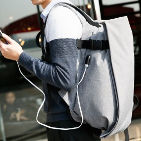 Mark Ryden Tas Ransel Laptop dengan USB Charger Port - MR5761A - Gray - 4