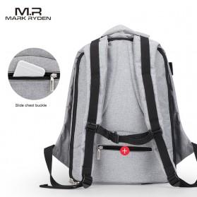 Mark Ryden Tas Ransel Laptop dengan USB Charger Port - MR5761A - Gray - 6