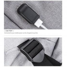 Mark Ryden Tas Ransel Laptop dengan USB Charger Port - MR5761A - Gray - 9