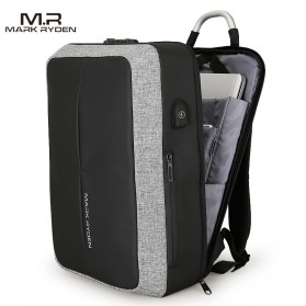 Mark Ryden Tas Ransel Anti Maling dengan USB Charger Port - MR6832 - Gray/Black - 2
