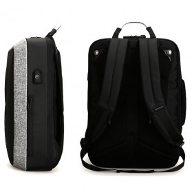 Mark Ryden Tas Ransel Anti Maling dengan USB Charger Port - MR6832 - Gray/Black - 4