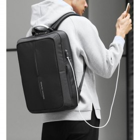 Mark Ryden Tas Ransel Anti Maling dengan USB Charger Port - MR6832 - Gray/Black - 7