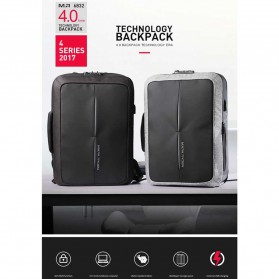 Mark Ryden Tas Ransel Anti Maling dengan USB Charger Port - MR6832 - Gray/Black - 8