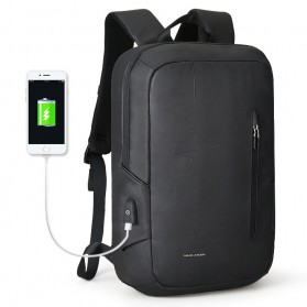 Mark Ryden Tas Ransel Laptop dengan USB Charger Port - MRK9032 - Black