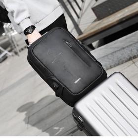 Mark Ryden Tas Ransel Laptop dengan USB Charger Port - MRK9032 - Black - 3