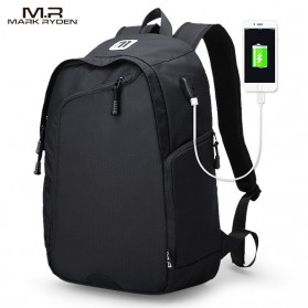 Mark Ryden Tas Ransel Laptop Multi Space dengan USB Charger Port - MR6001 - Black