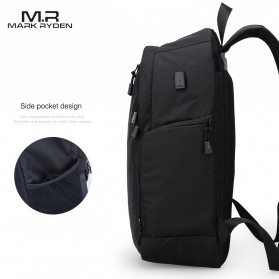 Mark Ryden Tas Ransel Laptop Multi Space dengan USB Charger Port - MR6001 - Black - 2