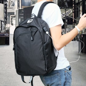 Mark Ryden Tas Ransel Laptop Multi Space dengan USB Charger Port - MR6001 - Black - 3