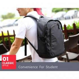 Mark Ryden Tas Ransel Laptop Multi Space dengan USB Charger Port - MR6001 - Black - 5