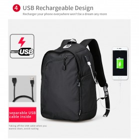 Mark Ryden Tas Ransel Laptop Multi Space dengan USB Charger Port - MR6001 - Black - 8