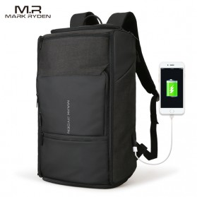 Mark Ryden Tas Ransel Anti Maling dengan USB Charger Port - MR6888 - Black