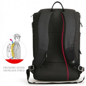 Mark Ryden Tas Ransel Anti Maling dengan USB Charger Port - MR6888 - Black - 7