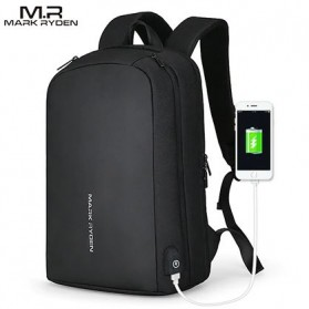 Mark Ryden Tas Ransel Laptop dengan USB Charger Port - MR6971 - Black