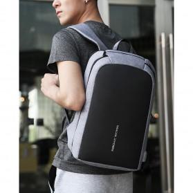 Mark Ryden Tas Ransel Laptop dengan USB Charger Port - MR6971 - Black - 5
