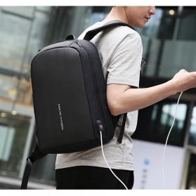 Mark Ryden Tas Ransel Laptop dengan USB Charger Port - MR6971 - Black - 6