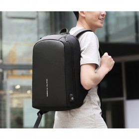 Mark Ryden Tas Ransel Laptop dengan USB Charger Port - MR6971 - Black - 7