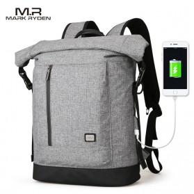 Mark Ryden Tas Ransel Laptop 15.6 Inch dengan USB Charger Port - MR6875 - Gray