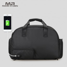 Mark Ryden Tas Travel Duffle Bag Large Capacity Waterproof dengan USB Charger Port - MR7091 - Black
