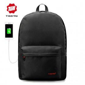 Tigernu Tas Ransel Laptop dengan USB Charger - T-B3249 - Black