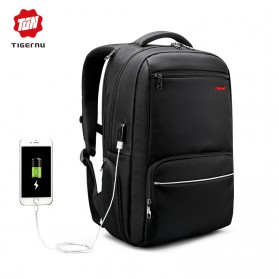 Tigernu Tas Ransel Laptop dengan USB Charger Port - T-B3319 - Black