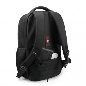 Tigernu Tas Ransel Laptop dengan USB Charger Port - T-B3319 - Black - 2