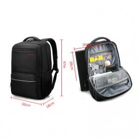 Tigernu Tas Ransel Laptop dengan USB Charger Port - T-B3319 - Black - 4