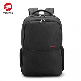 Tigernu Tas Ransel Laptop dengan USB Charger Port - T-B3259 - Black