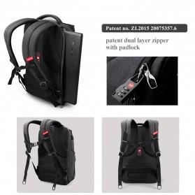 Tigernu Tas Ransel Laptop Bisnis dengan USB Charger Port - T-B3242 - Black/Gray - 4