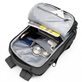 Tigernu Tas Ransel Laptop Bisnis dengan USB Charger Port - T-B3242 - Black/Gray - 5
