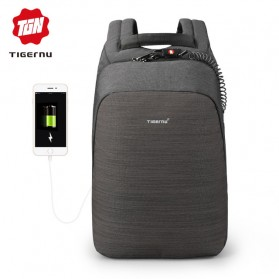 Laptop / Notebook - TIGERNU Tas Ransel Backpack Anti Maling dengan USB Port - T-B3351 - Black
