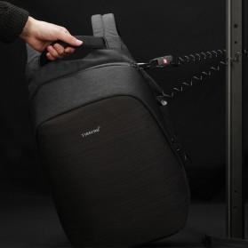 TIGERNU Tas Ransel Backpack Anti Maling dengan USB Port - T-B3351 - Black - 3