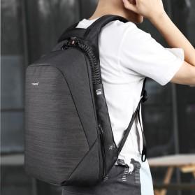 TIGERNU Tas Ransel Backpack Anti Maling dengan USB Port - T-B3351 - Black - 4
