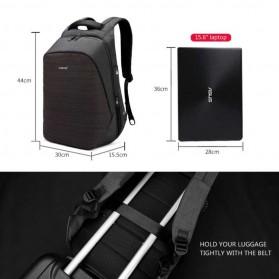 TIGERNU Tas Ransel Backpack Anti Maling dengan USB Port - T-B3351 - Black - 6