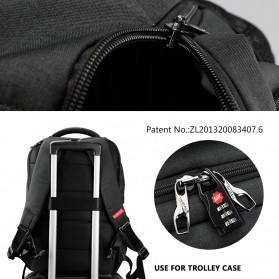 TIGERNU Tas Ransel Backpack Anti Maling dengan USB Port - T-B3399 - Black - 6