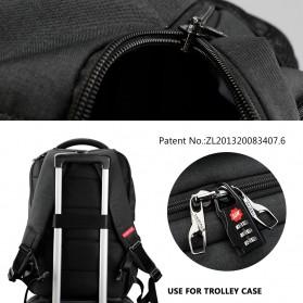 TIGERNU Tas Ransel Backpack Anti Maling dengan USB Port - T-B3399 - Gray - 4