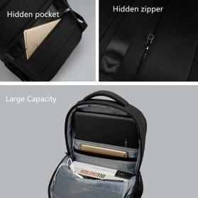 TIGERNU Tas Ransel Backpack Anti Maling dengan USB Port - T-B3399 - Gray - 6