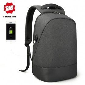 TIGERNU Tas Ransel Backpack dengan USB Port - T-B3595 - Black - 1