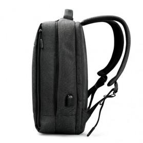 TIGERNU Tas Ransel Laptop dengan USB Charger Port - T-B3269 - Black - 2