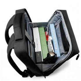 TIGERNU Tas Ransel Laptop dengan USB Charger Port - T-B3269 - Black - 4