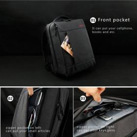 TIGERNU Tas Ransel Laptop dengan USB Charger Port - T-B3269 - Black - 7