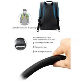 TIGERNU Tas Ransel Laptop dengan USB Charger Port - T-B3269 - Black - 8