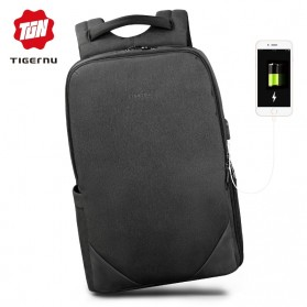 Laptop / Notebook - TIGERNU Tas Ransel Backpack 20L dengan USB Port - T-B3601 - Black