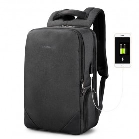 TIGERNU Tas Ransel Backpack 20L dengan USB Port - T-B3601 - Black - 2