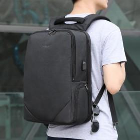 TIGERNU Tas Ransel Backpack 20L dengan USB Port - T-B3601 - Black - 4