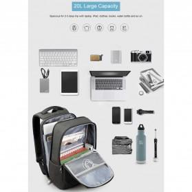 TIGERNU Tas Ransel Backpack 20L dengan USB Port - T-B3601 - Black - 6