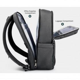 TIGERNU Tas Ransel Backpack 20L dengan USB Port - T-B3601 - Black - 7