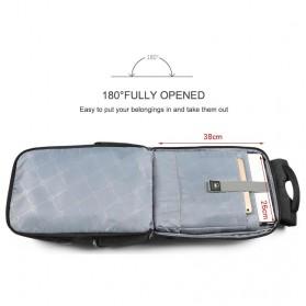 TIGERNU Tas Ransel Backpack 20L dengan USB Port - T-B3601 - Black - 8