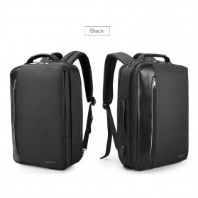 TIGERNU Tas Ransel Backpack Bisnis 4 in 1 Style with USB Charger Port - T-B3639 - Black - 10