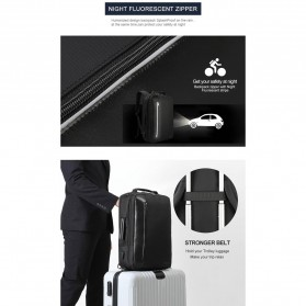 TIGERNU Tas Ransel Backpack Bisnis 4 in 1 Style with USB Charger Port - T-B3639 - Black - 6