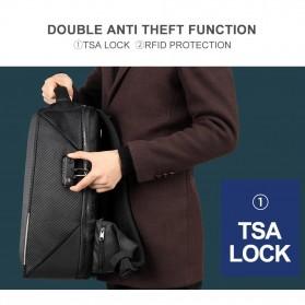 TIGERNU Tas Ransel Backpack RFID Protection dengan TSA Lock - T-B3655 - Black - 2